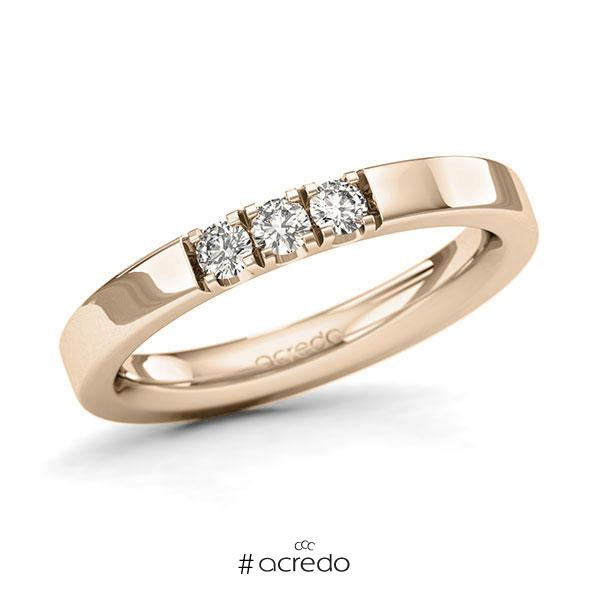Memoire/Diamantring in Signature Gold 585 mit zus. 0,21 ct. Brillant tw, si von acredo