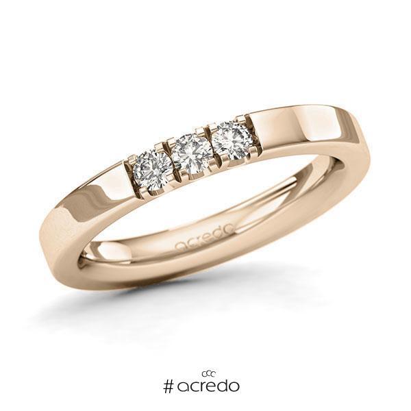 Memoire/Diamantring in Signature Gold 585 mit zus. 0,24 ct. Brillant tw, si von acredo