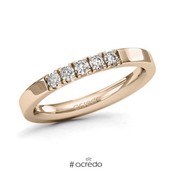 Memoire/Diamantring in Signature Gold 585 mit zus. 0,25 ct. Brillant tw, si von acredo