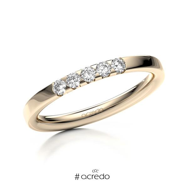 Memoire/Diamantring in Signature Gold 585 mit zus. 0,2 ct. Brillant tw, si von acredo