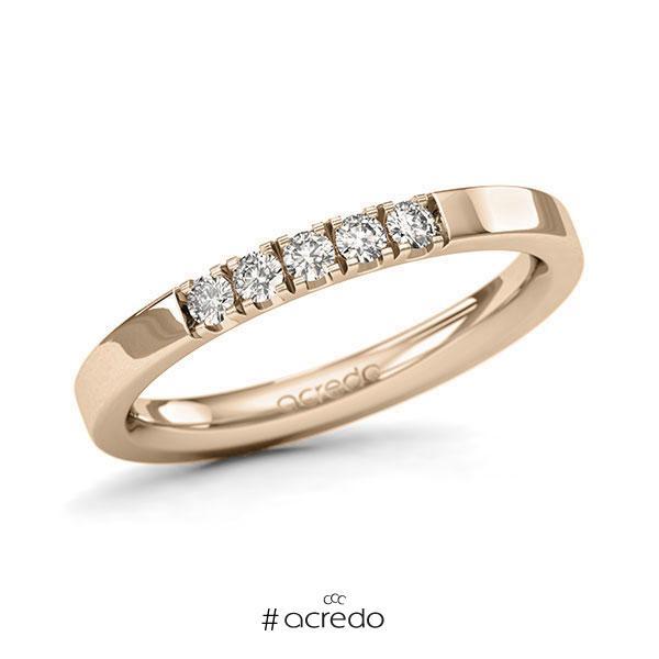 Memoire/Diamantring in Signature Gold 585 mit zus. 0,2 ct. Brillant tw, si von acredo
