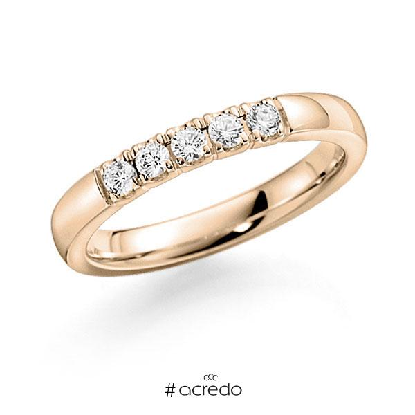Memoire/Diamantring in Signature Gold 585 mit zus. 0,35 ct. Brillant tw, vs von acredo