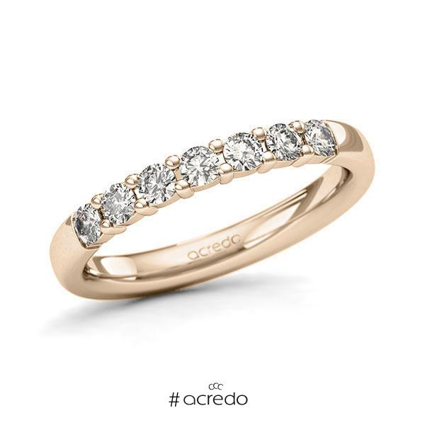 Memoire/Diamantring in Signature Gold 585 mit zus. 0,42 ct. Brillant tw, si von acredo