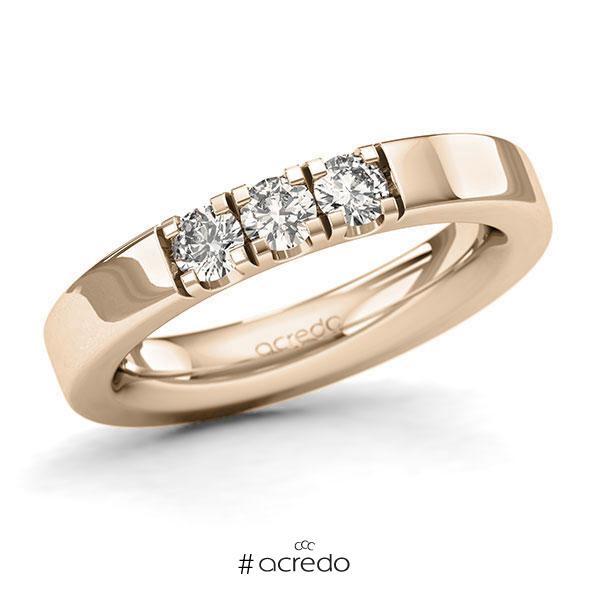 Memoire/Diamantring in Signature Gold 585 mit zus. 0,45 ct. Brillant tw, si von acredo