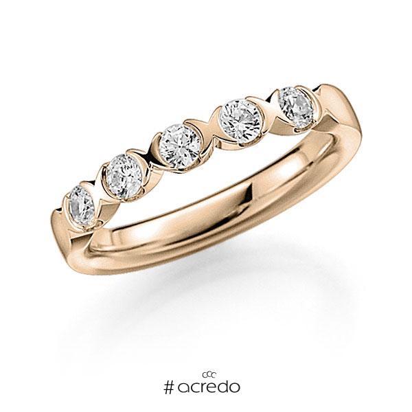 Memoire/Diamantring in Signature Gold 585 mit zus. 0,45 ct. Brillant tw, vs von acredo