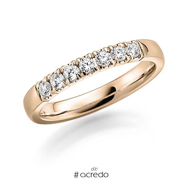 Memoire/Diamantring in Signature Gold 585 mit zus. 0,49 ct. Brillant tw, vs von acredo
