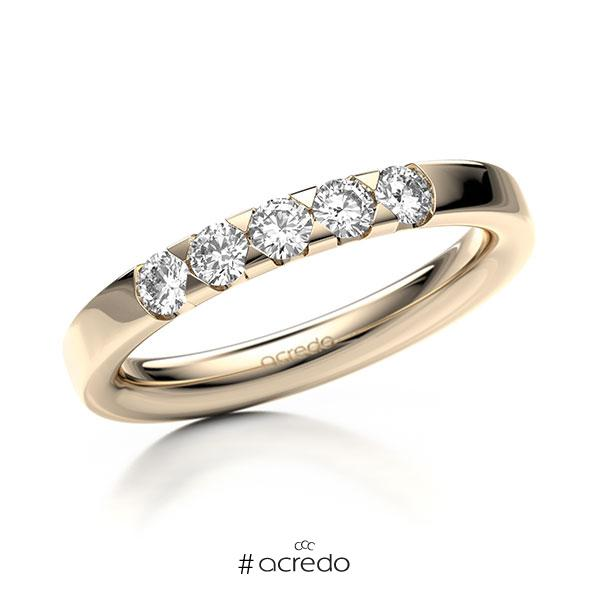 Memoire/Diamantring in Signature Gold 585 mit zus. 0,4 ct. Brillant tw, si von acredo