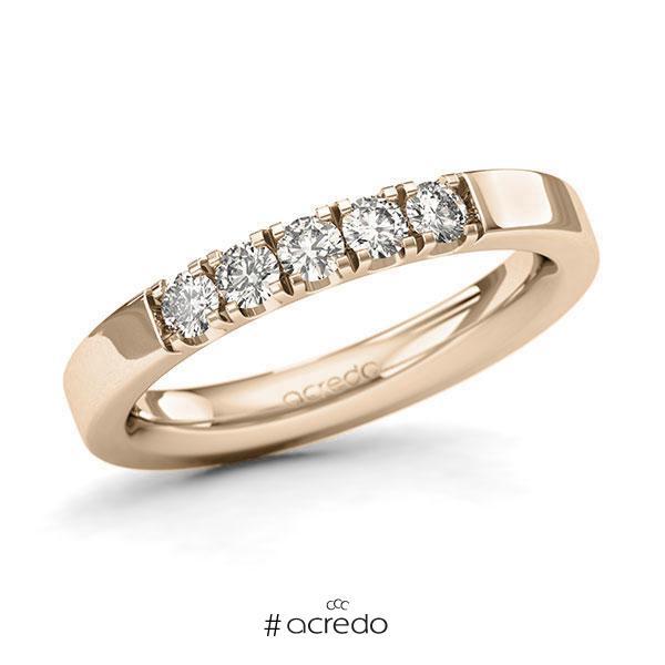Memoire/Diamantring in Signature Gold 585 mit zus. 0,4 ct. Brillant tw, si von acredo