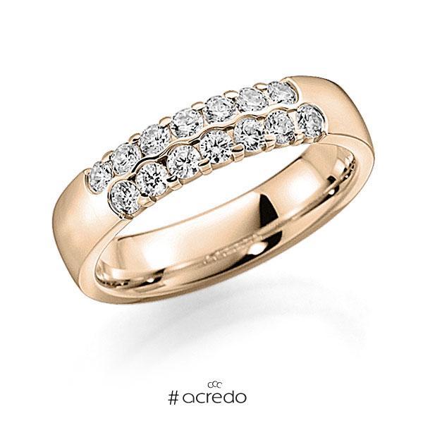 Memoire/Diamantring in Signature Gold 585 mit zus. 0,56 ct. Brillant tw, vs von acredo