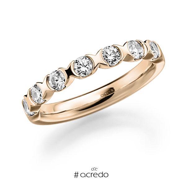 Memoire/Diamantring in Signature Gold 585 mit zus. 0,63 ct. Brillant tw, vs von acredo