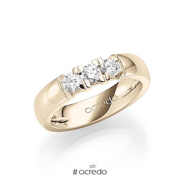 Memoire/Diamantring in Signature Gold 585 mit zus. 0,6 ct. Brillant tw, vs von acredo