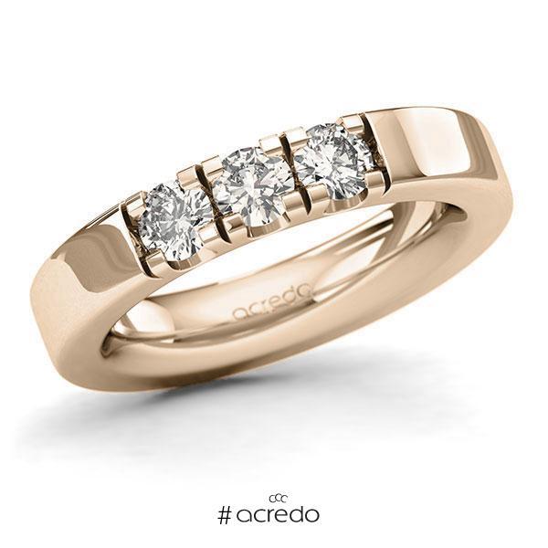 Memoire/Diamantring in Signature Gold 585 mit zus. 0,75 ct. Brillant tw, si von acredo