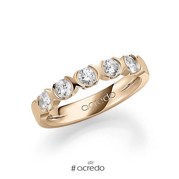 Memoire/Diamantring in Signature Gold 585 mit zus. 0,75 ct. Brillant tw, vs von acredo