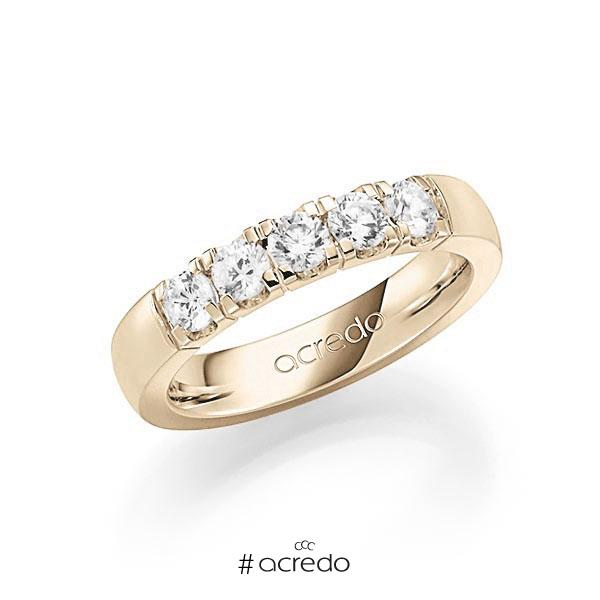 Memoire/Diamantring in Signature Gold 585 mit zus. 0,75 ct. Brillant tw, vs von acredo