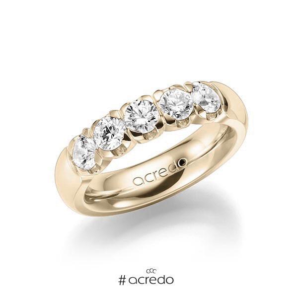 Memoire/Diamantring in Signature Gold 585 mit zus. 1,25 ct. Brillant tw, vs von acredo