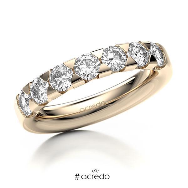 Memoire/Diamantring in Signature Gold 585 mit zus. 1,4 ct. Brillant tw, si von acredo