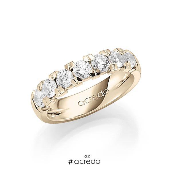 Memoire/Diamantring in Signature Gold 585 mit zus. 1,4 ct. Brillant tw, vs von acredo