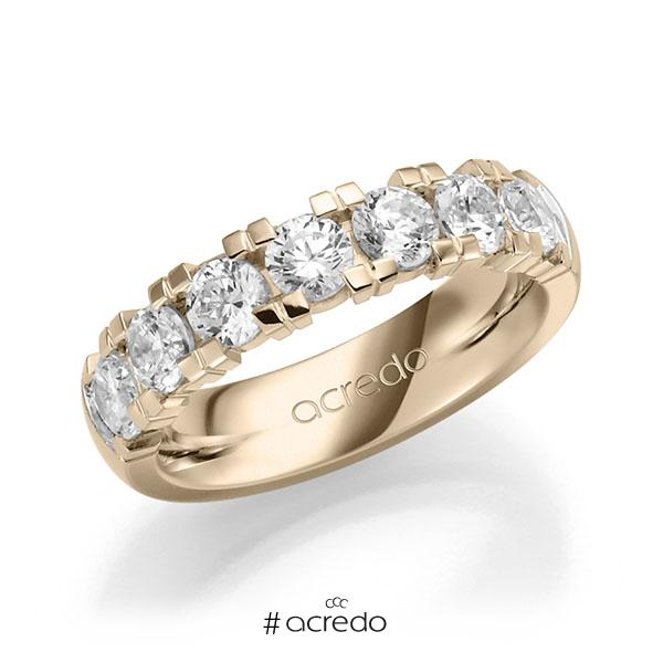 Memoire/Diamantring in Signature Gold 585 mit zus. 1,75 ct. Brillant tw, vs von acredo