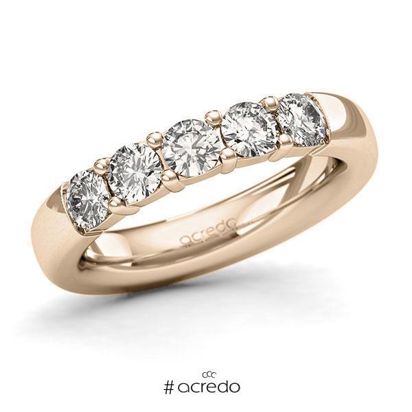 Memoire/Diamantring in Signature Gold 585 mit zus. 1 ct. Brillant tw, si von acredo