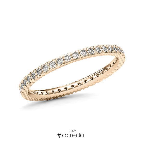 Memoire/Diamantring in Signature Gold 585 vollausgefasst mit zus. 0,41 ct. Brillant tw, vs von acredo