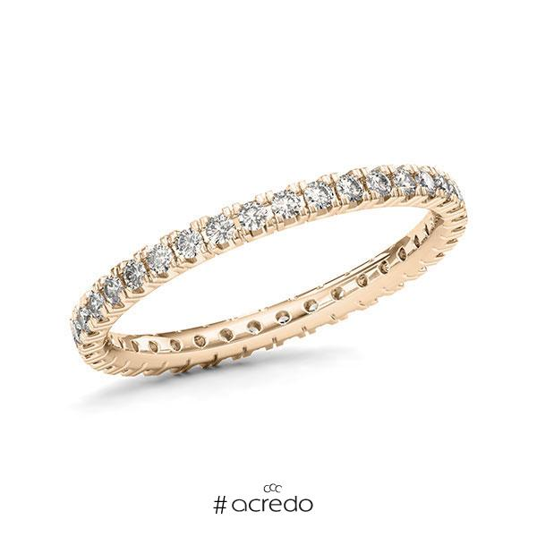 Memoire/Diamantring in Signature Gold 585 vollausgefasst mit zus. 0,54 ct. Brillant tw, vs von acredo