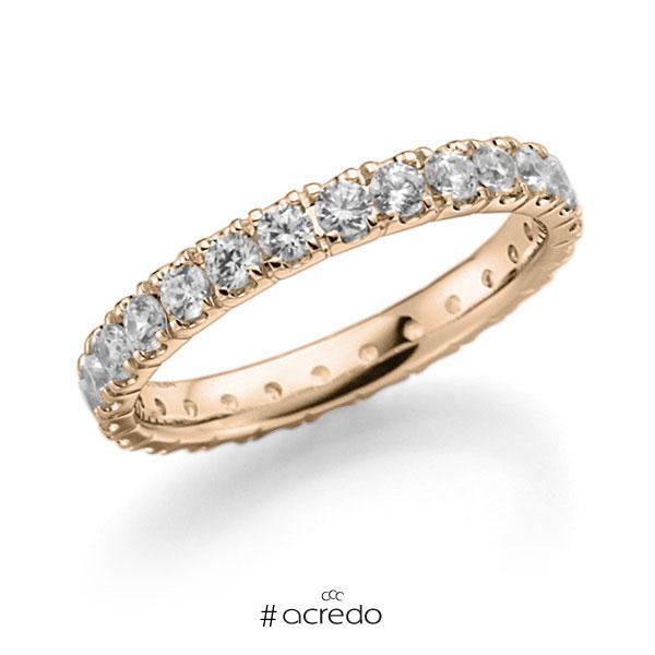 Memoire/Diamantring in Signature Gold 585 vollausgefasst mit zus. 1,25 ct. Brillant tw, vs von acredo