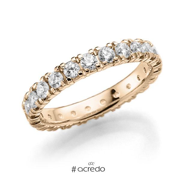 Memoire/Diamantring in Signature Gold 585 vollausgefasst mit zus. 1,38 ct. Brillant tw, vs von acredo