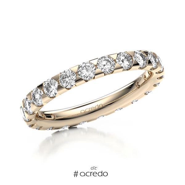 Memoire/Diamantring in Signature Gold 585 vollausgefasst mit zus. 1,54 ct. Brillant tw, si von acredo