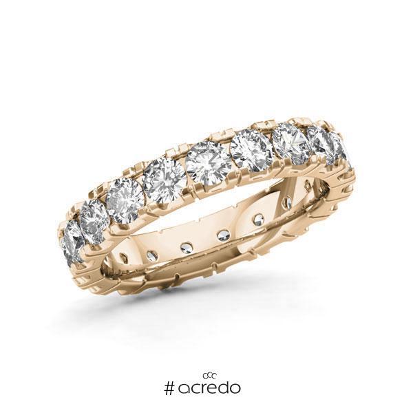 Memoire/Diamantring in Signature Gold 585 vollausgefasst mit zus. 2,85 ct. Brillant tw, vs von acredo