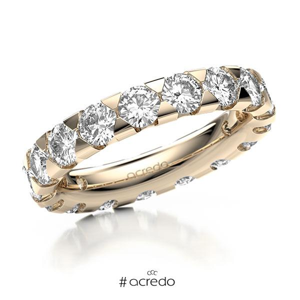 Memoire/Diamantring in Signature Gold 585 vollausgefasst mit zus. 3,4 ct. Brillant tw, si von acredo