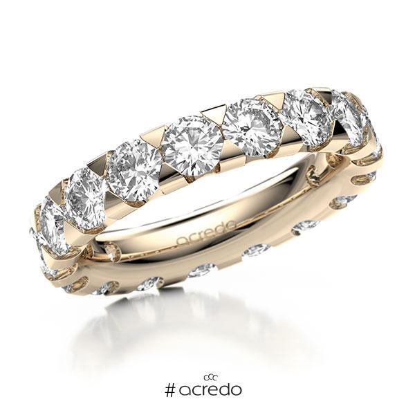Memoire/Diamantring in Signature Gold 585 vollausgefasst mit zus. 4,25 ct. Brillant tw, si von acredo