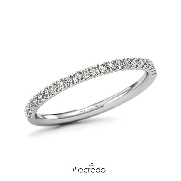 Memoire/Diamantring in Weißgold 585 halbausgefasst mit zus. 0,22 ct. Brillant tw, si von acredo