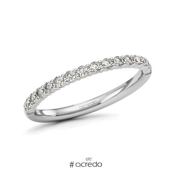 Memoire/Diamantring in Weißgold 585 halbausgefasst mit zus. 0,32 ct. Brillant tw, si von acredo