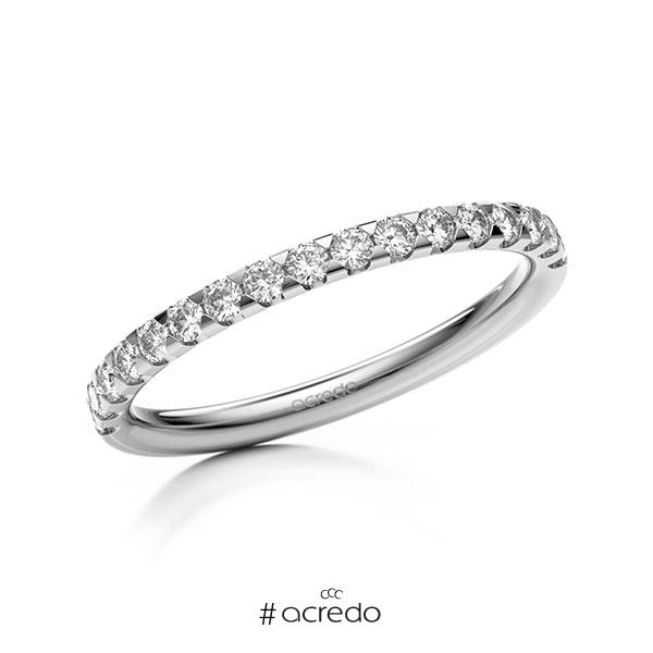 Memoire/Diamantring in Weißgold 585 halbausgefasst mit zus. 0,34 ct. Brillant tw, si von acredo