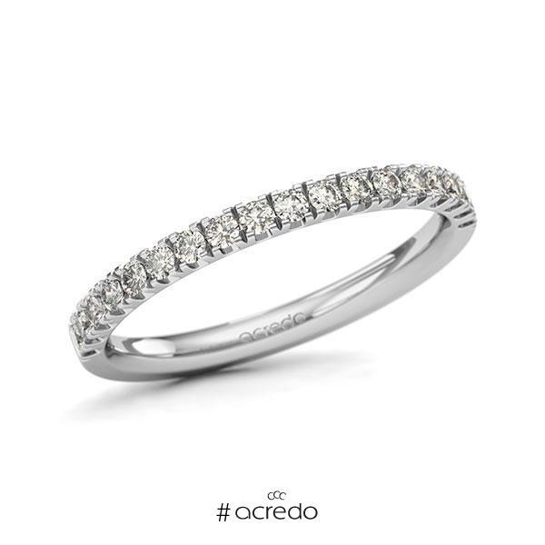 Memoire/Diamantring in Weißgold 585 halbausgefasst mit zus. 0,36 ct. Brillant tw, si von acredo