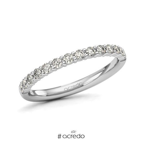 Memoire/Diamantring in Weißgold 585 halbausgefasst mit zus. 0,42 ct. Brillant tw, si von acredo