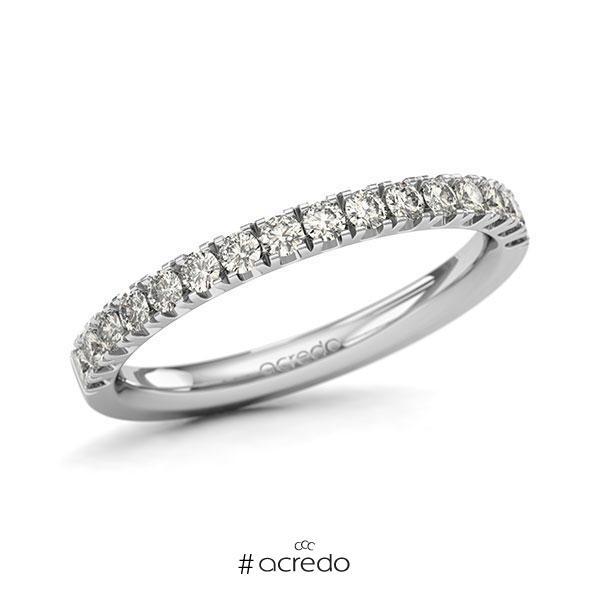 Memoire/Diamantring in Weißgold 585 halbausgefasst mit zus. 0,48 ct. Brillant tw, si von acredo