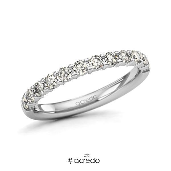 Memoire/Diamantring in Weißgold 585 halbausgefasst mit zus. 0,6 ct. Brillant tw, si von acredo