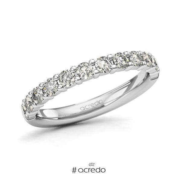 Memoire/Diamantring in Weißgold 585 halbausgefasst mit zus. 0,72 ct. Brillant tw, si von acredo