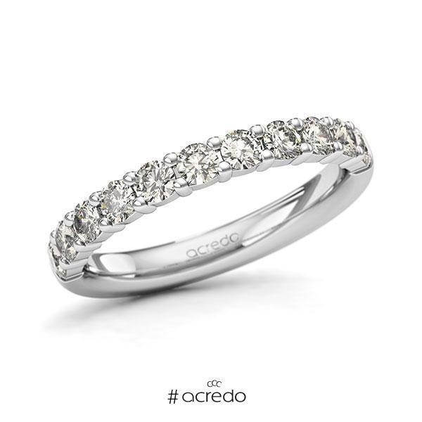 Memoire/Diamantring in Weißgold 585 halbausgefasst mit zus. 0,77 ct. Brillant tw, si von acredo