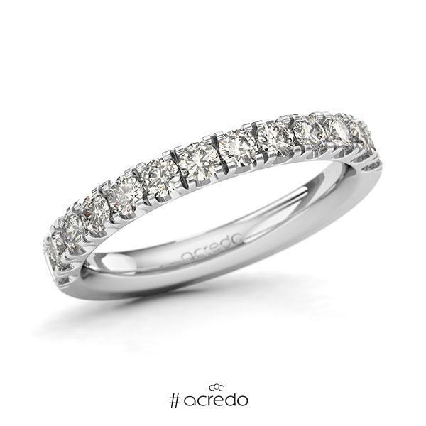 Memoire/Diamantring in Weißgold 585 halbausgefasst mit zus. 0,78 ct. Brillant tw, si von acredo