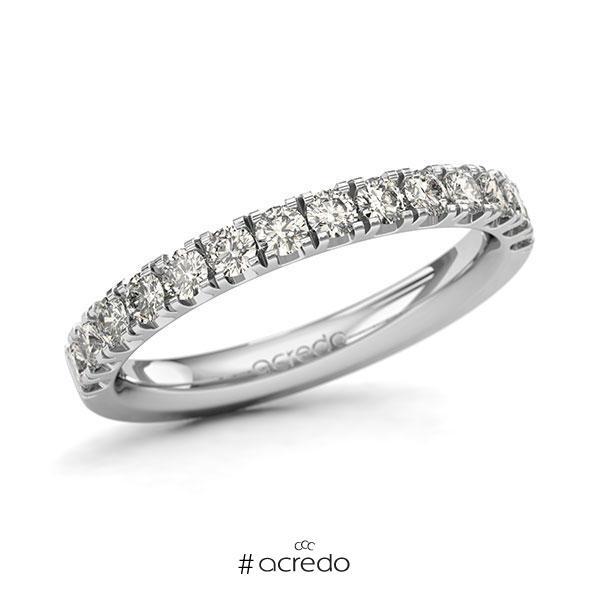 Memoire/Diamantring in Weißgold 585 halbausgefasst mit zus. 0,7 ct. Brillant tw, si von acredo