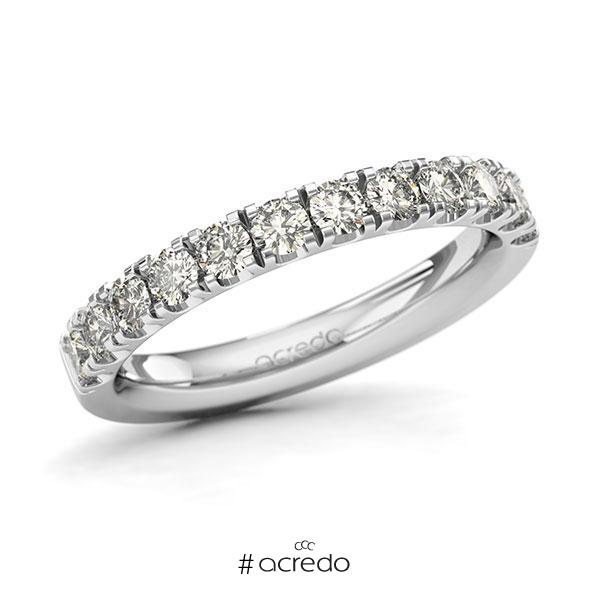 Memoire/Diamantring in Weißgold 585 halbausgefasst mit zus. 0,84 ct. Brillant tw, si von acredo