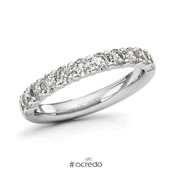 Memoire/Diamantring in Weißgold 585 halbausgefasst mit zus. 0,88 ct. Brillant tw, si von acredo