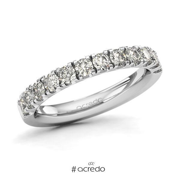 Memoire/Diamantring in Weißgold 585 halbausgefasst mit zus. 0,96 ct. Brillant tw, si von acredo