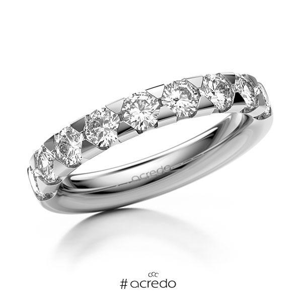 Memoire/Diamantring in Weißgold 585 halbausgefasst mit zus. 1,35 ct. Brillant tw, si von acredo