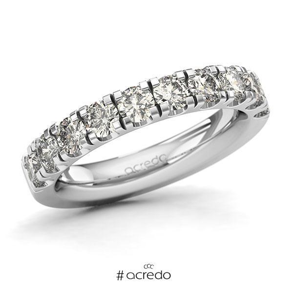 Memoire/Diamantring in Weißgold 585 halbausgefasst mit zus. 1,5 ct. Brillant tw, si von acredo