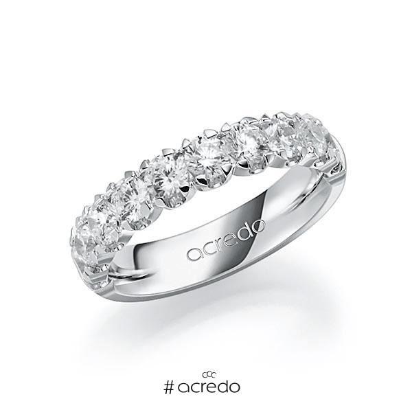 Memoire/Diamantring in Weißgold 585 halbausgefasst mit zus. 1,5 ct. Brillant tw, vs von acredo