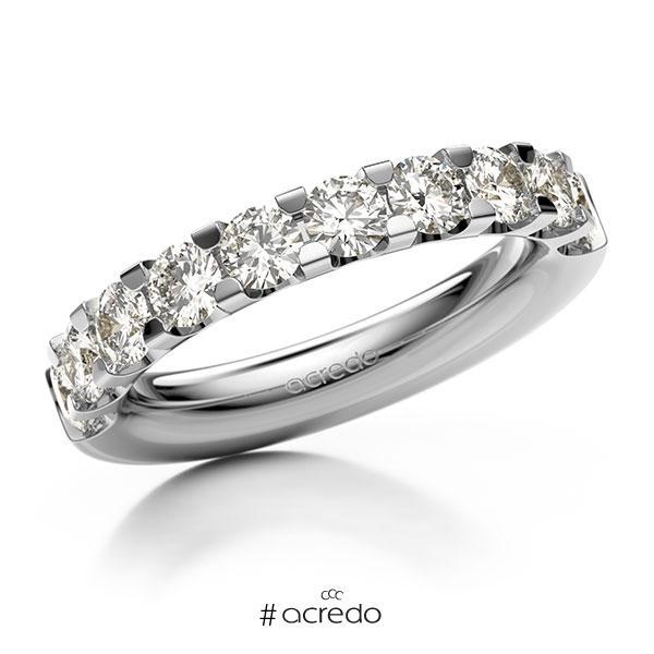 Memoire/Diamantring in Weißgold 585 halbausgefasst mit zus. 1,6 ct. Brillant tw, vs von acredo