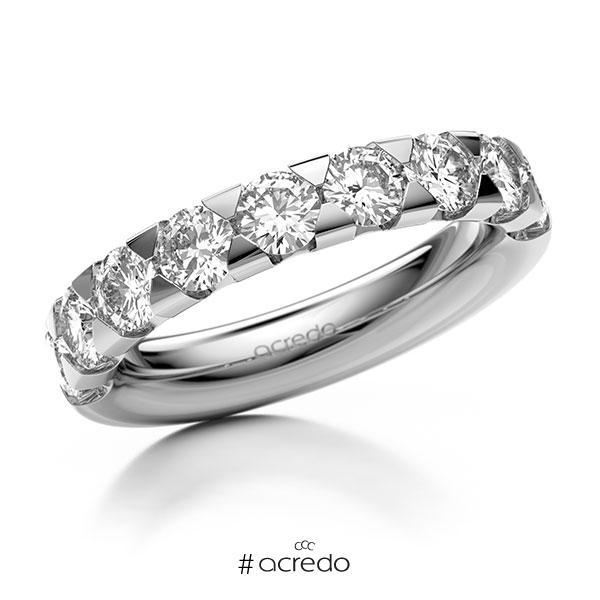 Memoire/Diamantring in Weißgold 585 halbausgefasst mit zus. 1,8 ct. Brillant tw, si von acredo